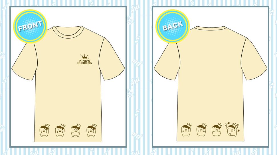 王様プリンモチーフTシャツ