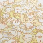 【アイナナ新グッズ】パステルカラーのきなこ柄グッズが登場!(ハンカチ・きんちゃく・ポーチ・ペンケース)